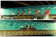 ציור קיר גשר גהה