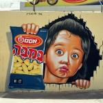 ציור קיר - במבה אוסם - אבי בליטשטין