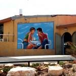 ציור קיר במסעדה - תל אביב - אבי בליטשטיין