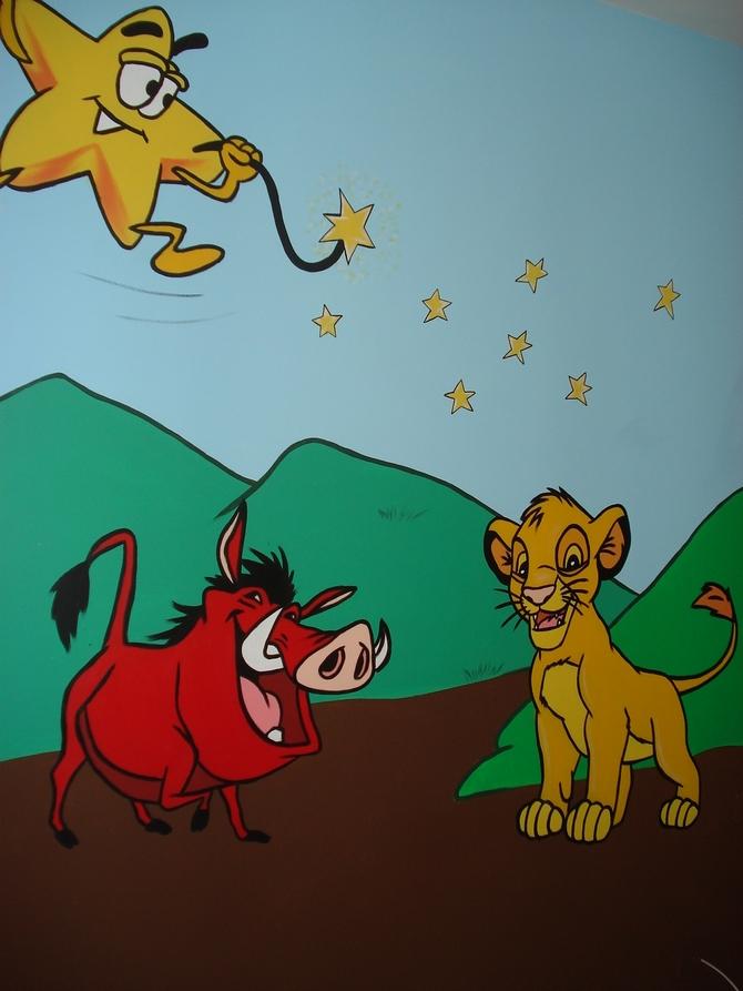 ציור קיר - מלך האריות