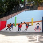 ציורי קיר - בית ספר בן גוריון חיפה - אבי בליטשטיין