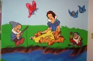 ציור קיר שלגיה בחדר ילדים - אבי בליטשטיין