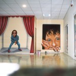 ציורי קיר - מרכז מסחרי שוהם - אבי בליטשטיין